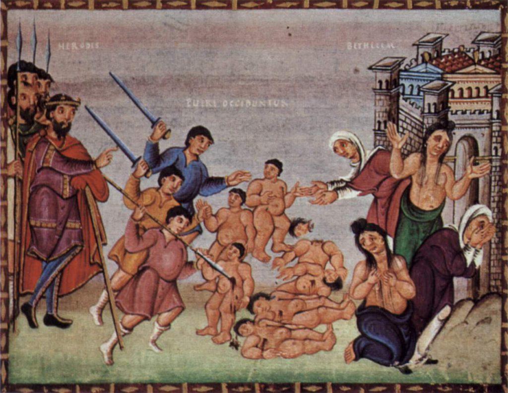Représentation du massacre des Innocents